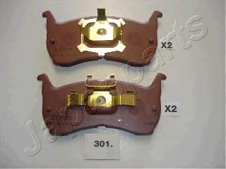Колодки тормозные дисковые Japanparts PA301AFPA301AF