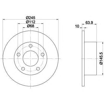 Диск тормозной Textar 92057503 комплект 2 шт92057503