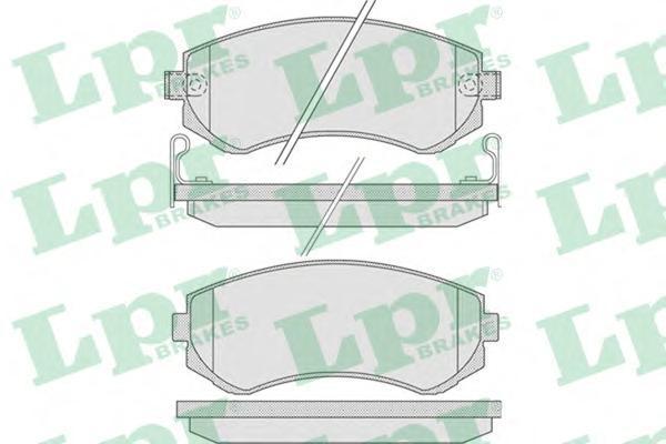 Колодки тормозные задние LPR / AP 05P85605P856