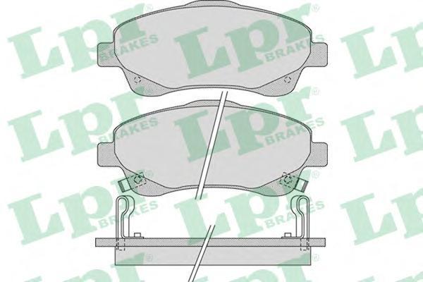 Колодки тормозные дисковые передние LPR / AP 05P111405P1114