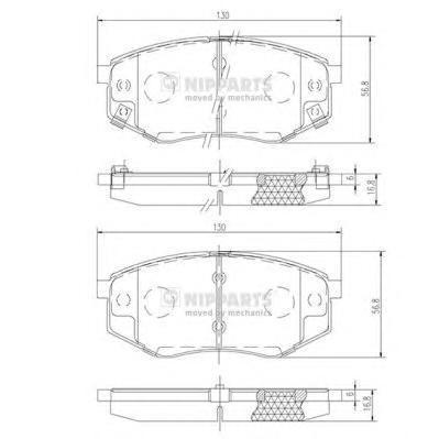 Колодки тормозные передние Nipparts N3600545N3600545