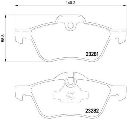 Колодки тормозные дисковые, 4 шт Textar 23281012328101