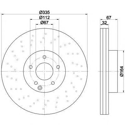 Диск тормозной Pro BEHR-HELLA 8DD3551150118DD355115011