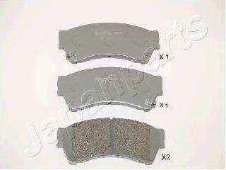 Колодки тормозные дисковые Japanparts PA346AFPA346AF