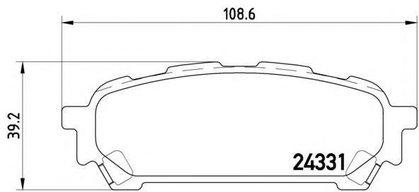 Колодки тормозные задние Brembo P78014P78014