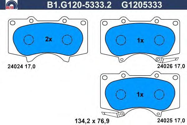 Колодки тормозные дисковые Galfer B1G12053332B1G12053332