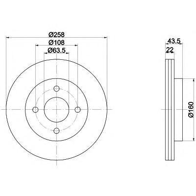 Диск тормозной Behr-Hella Pro, 2 шт. 8DD355106-4318DD355106-431