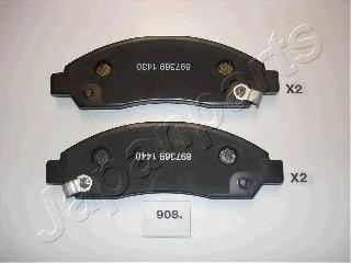 Колодки тормозные дисковые Japanparts PA908AFPA908AF