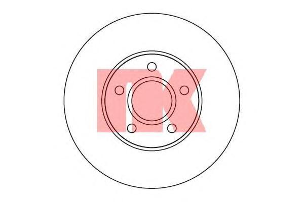 Диск тормозной NK 204848 комплект 2 шт204848
