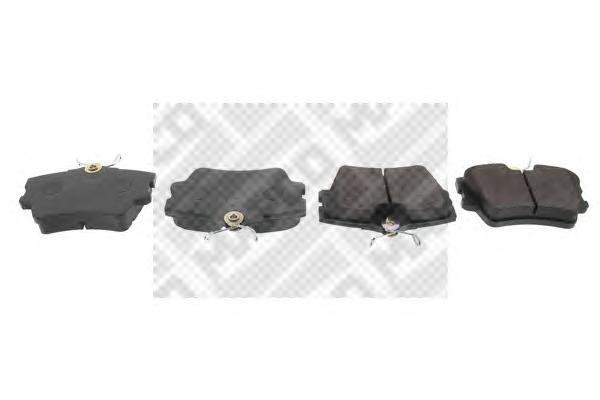 Колодки тормозные задние Mapco 65416541