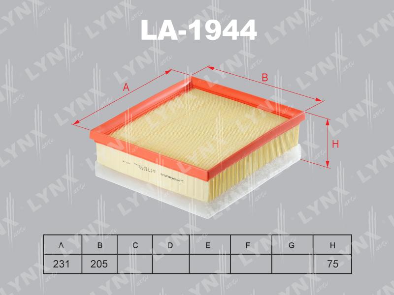 Фильтр воздушный Lynx LA1944LA1944