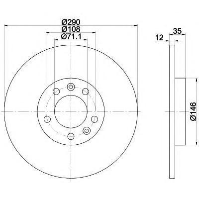 Диск тормозной задний Textar 92129603 комплект 2 шт92129603