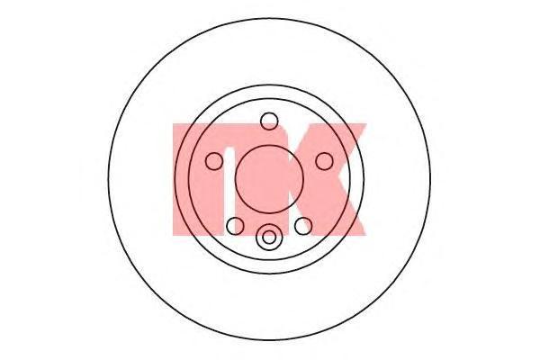 Диск тормозной NK 202573 комплект 2 шт202573