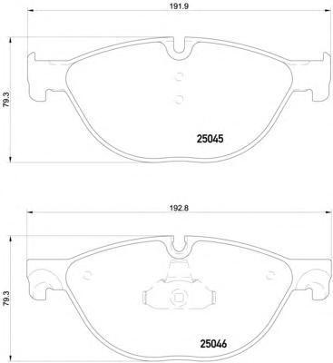 Колодки тормозные передние Textar 25045012504501