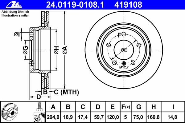 Диск тормозной Ate 24011901081 комплект 2 шт24011901081
