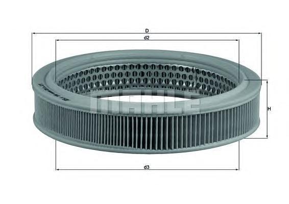 Фильтр воздушный Mahle/Knecht LX298LX298