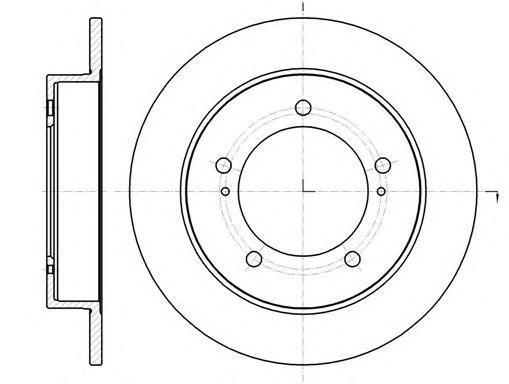 Диск тормозной передний Remsa 6149000 комплект 2 шт6149000