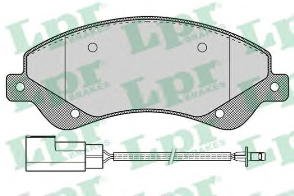 Колодки тормозные передние LPR / AP 05P125905P1259