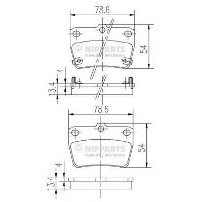 Колодки тормозные задние Nipparts J3612020J3612020