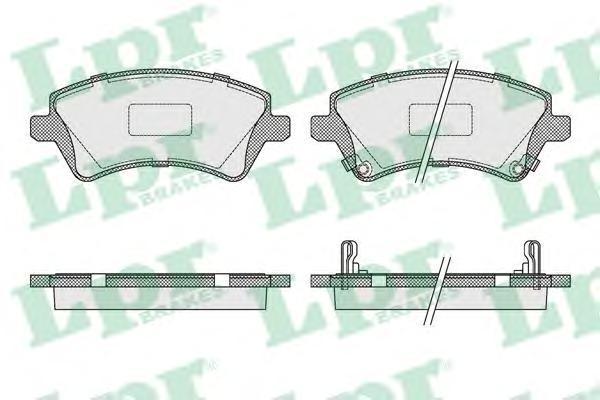 Колодки тормозные передние LPR / AP 05P100205P1002