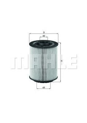 Фильтр масляный Mahle/Knecht OX356DOX356D