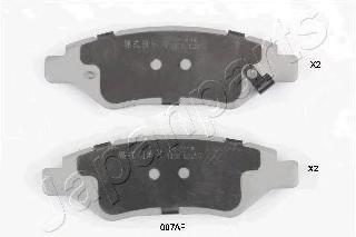 Колодки тормозные дисковые Japanparts PP007AFPP007AF