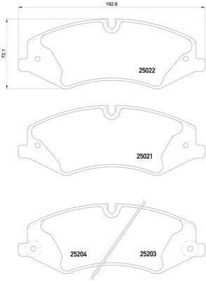 Колодки тормозные Textar 25022012502201