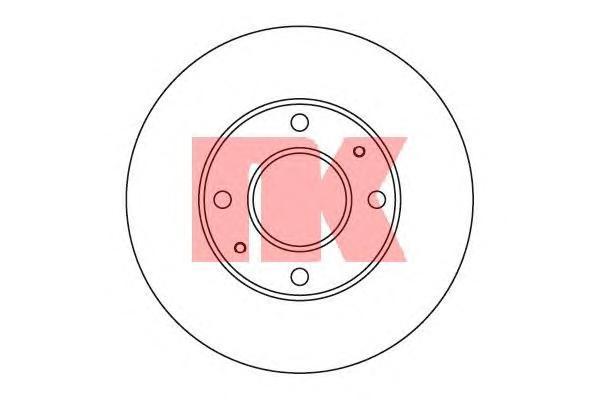 Диск тормозной NK 203410 комплект 2 шт203410
