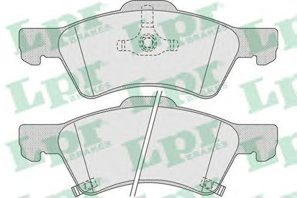 Колодки тормозные передние LPR / AP 05P100605P1006