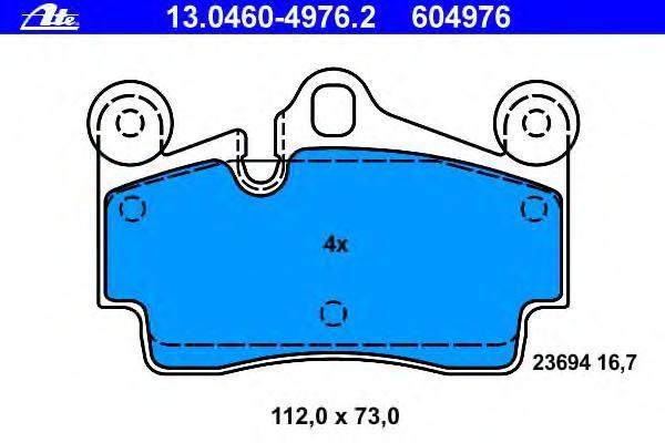 Колодки тормозные дисковые Ate 1304604976213046049762