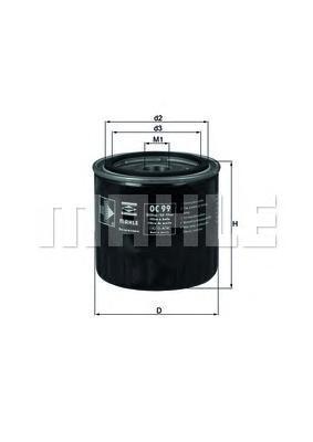 Масляный фильтр Mahle/Knecht OC99OFOC99OFФильтр масляный АКПП min10 Mahle/Knecht. OC99OF