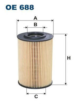 Фильтр масляный Filtron OE688OE688