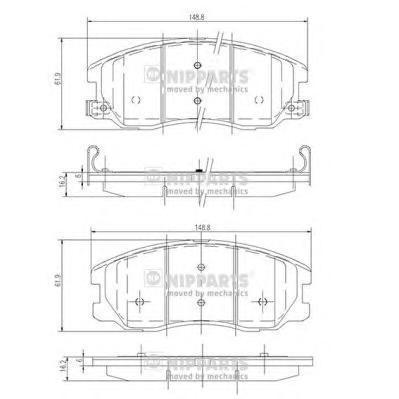 Колодки тормозные Nipparts J3600913J3600913