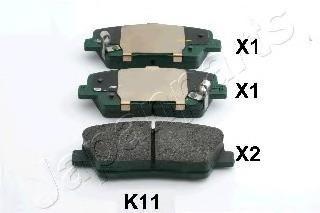 Колодки тормозные дисковые Japanparts PPK11AFPPK11AF