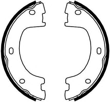 Колодки тормозные барабанные ручного тормоза Ferodo FSB4103FSB4103