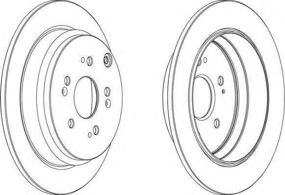 Диск тормозной задний Ferodo DDF1608 комплект 2 штDDF1608