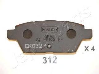 Колодки тормозные дисковые Japanparts PP312AFPP312AF