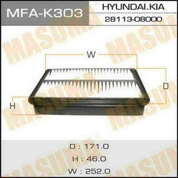 Фильтр воздушный Masuma MFAK303MFAK303