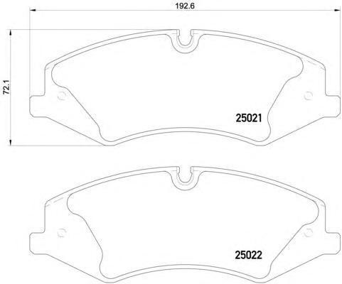 Колодки тормозные Textar 25021012502101