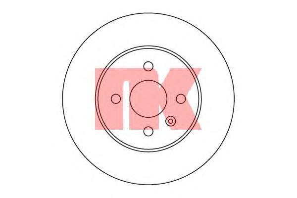 Диск тормозной NK 203655 комплект 2 шт203655