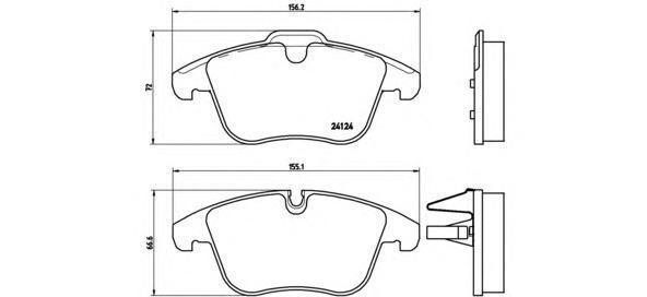 Колодки тормозные передние Brembo P36022P36022