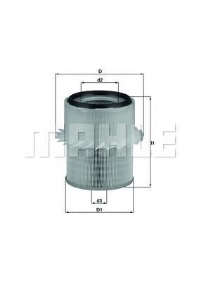 Фильтр воздушный Mahle/Knecht LX673LX673