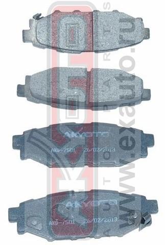 Колодки тормозные дисковые задние AKYOTO AKD7501AKD7501