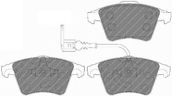 Колодки тормозные дисковые Premier Ferodo FVR1643FVR1643