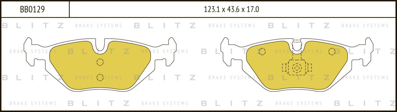 Колодки тормозные дисковые BLITZ автотовары BB0129BB0129
