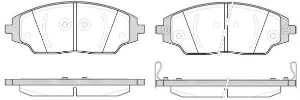 Колодки тормозные передние Remsa 153702153702