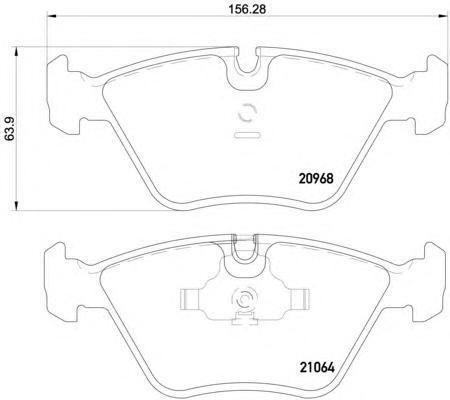 Колодки тормозные дисковые, 4 шт Textar 20968012096801