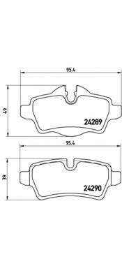Колодки тормозные задние Brembo P06052P06052