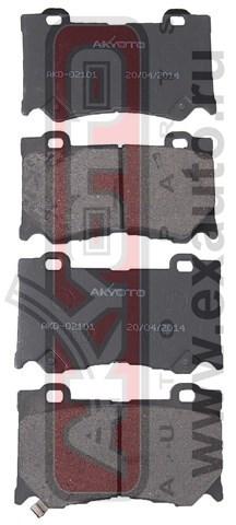 Колодки тормозные дисковые передние AKYOTO AKD02101AKD02101