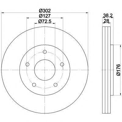 Диск тормозной передний Textar 92181503 комплект 2 шт92181503